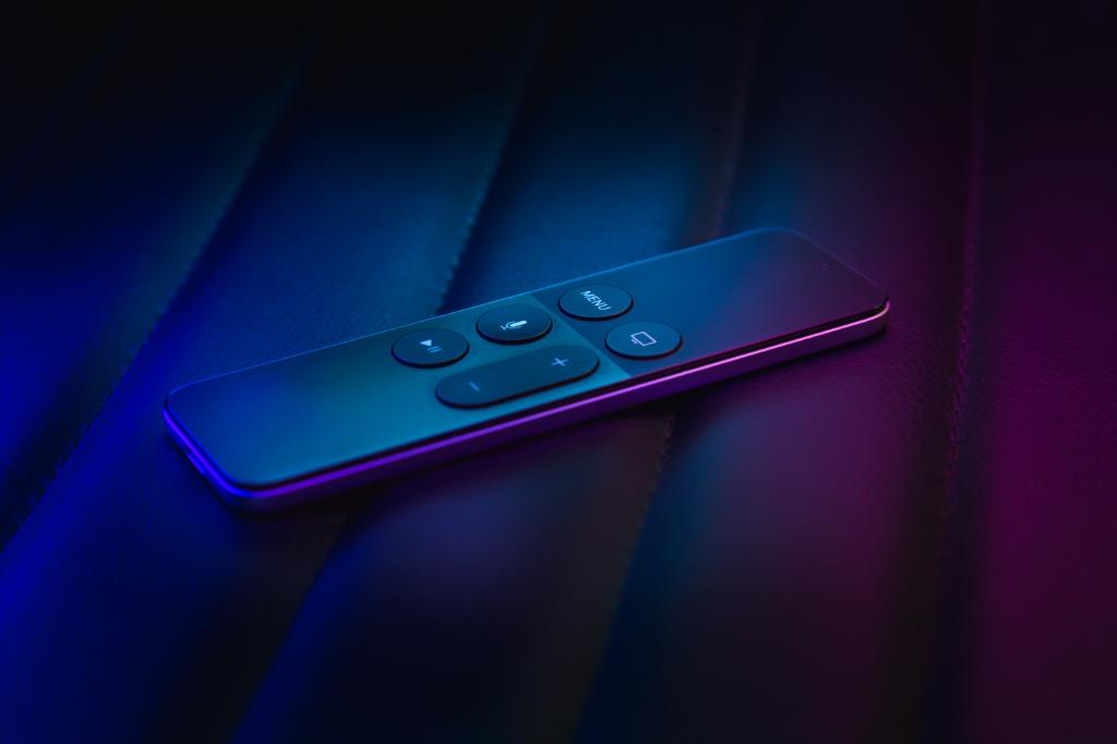A black remote controller.